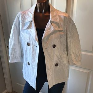 7 For All Mankind Double Breasted Wrinkle Jacket